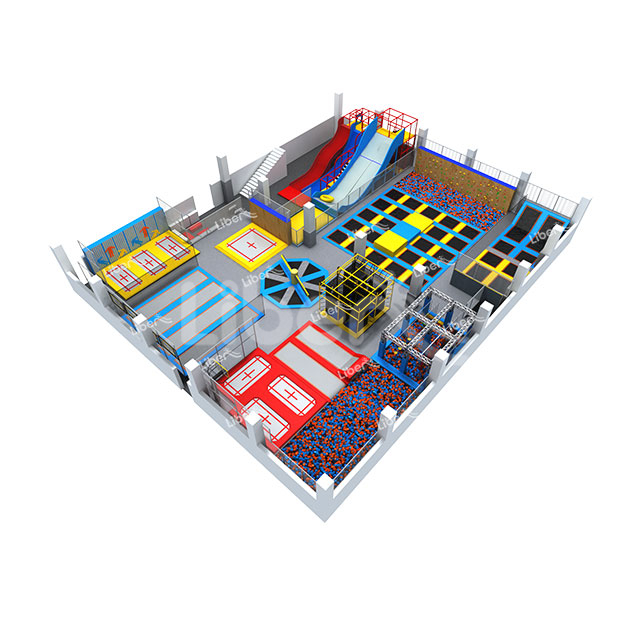 TUV Approved Indoor Amusement Bounce Trampoline Park for Children