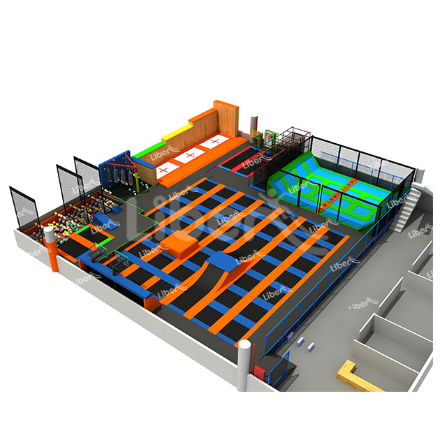 Liben ASTM Approved Trampoline Indoor, Popular Jumping Trampolines Park