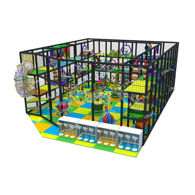 Children Plastic Indoor Soft Play Area for Birthday Party